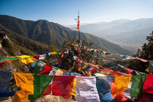 Templobudista en Bután