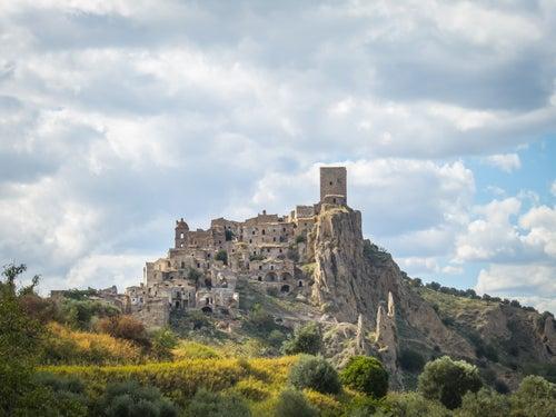 El pueblo fantasma de Craco en Italia