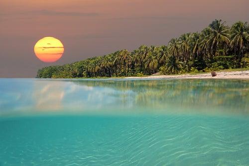 Playa en Bocas de Toro en Panamá