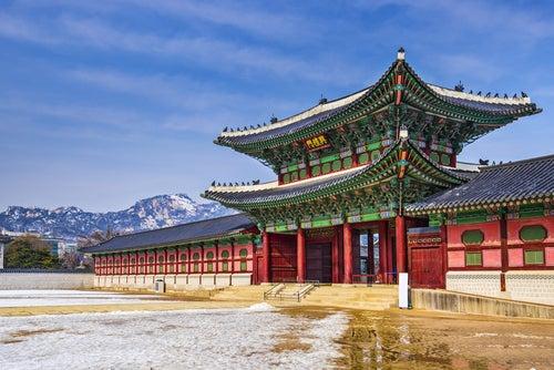 El precioso palacio de Gyeongbokgung en Corea del Sur