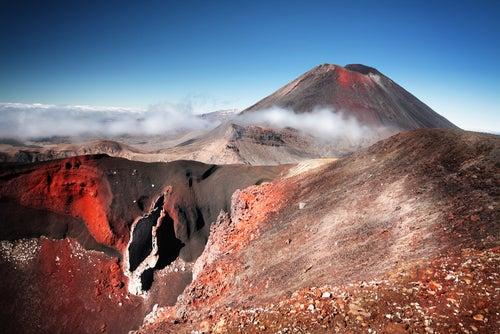 Monte Ngaurohoe en Nueva Zelanda