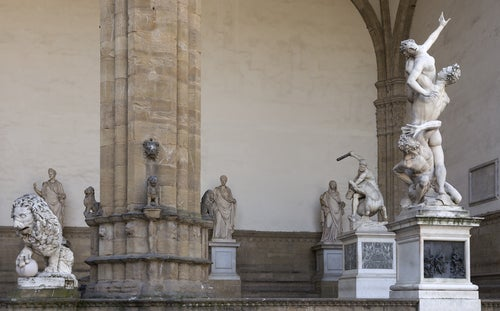 Loggia dei Lanzi en Florencia