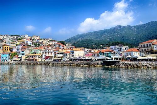 Parga en Grecia, pintoresca y colorida
