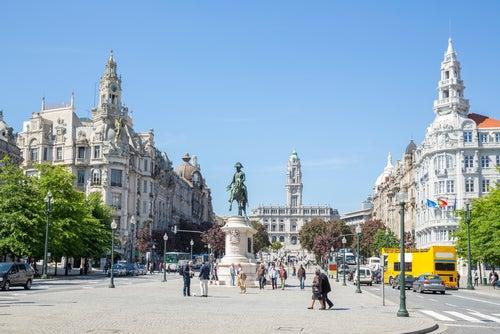 Barrio de la Baixa en Oporto