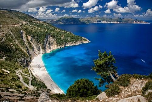 Playa de Myrtos en Cefalonia