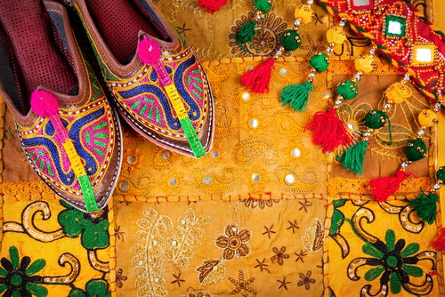 Calzado típico en Jodhpur