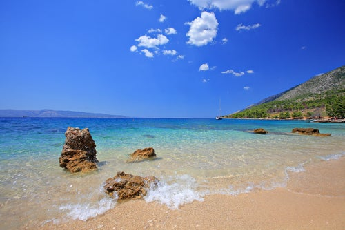 Playa en la isla de Brac