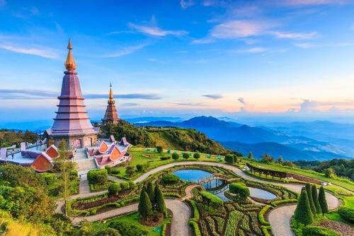El Parque Nacional de Doi Inthanon en Tailandia