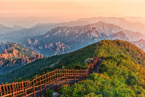 Caminoe ne l monte Bukhansan