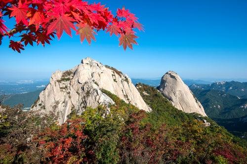 Parque Nacional del Monte Bukhansan, en Corea del Sur