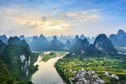 Paisajes de Gulin en China
