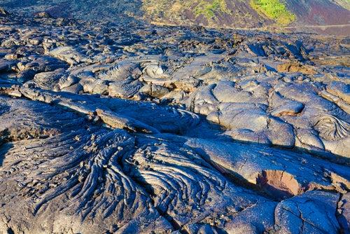 Río de lava en el Parque Nacional de los Volcanes