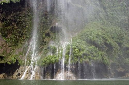 Cascada en el Cañón del Sumidero