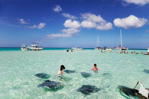 Playa Siete Millas en Gran Caimán