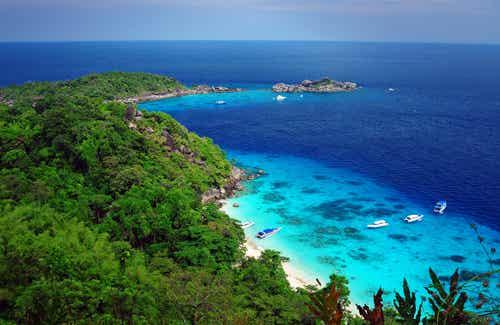 Islas Similan en Tailandia, un paraíso de color turquesa