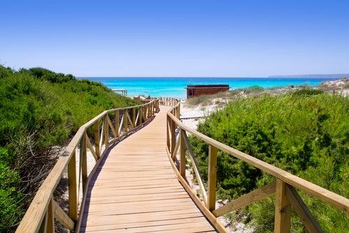 Playa Els Arenals en Formentera