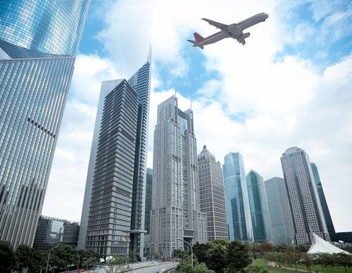Avión sobre Shangai