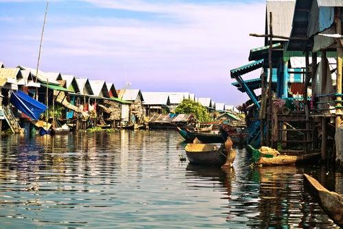 Tonlé Sap en Camboya