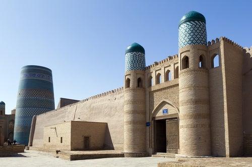Mezquita en Urgench en Turmenistán