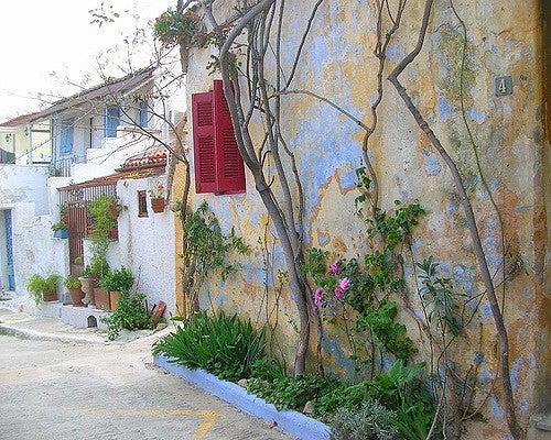 Barrio de Anafiotika en Atenas