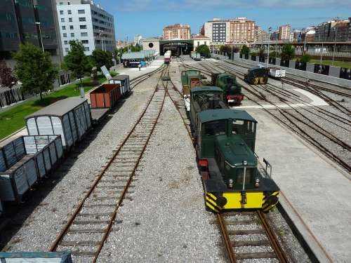 Andenes del Museo del Ferrocarril de Asturias