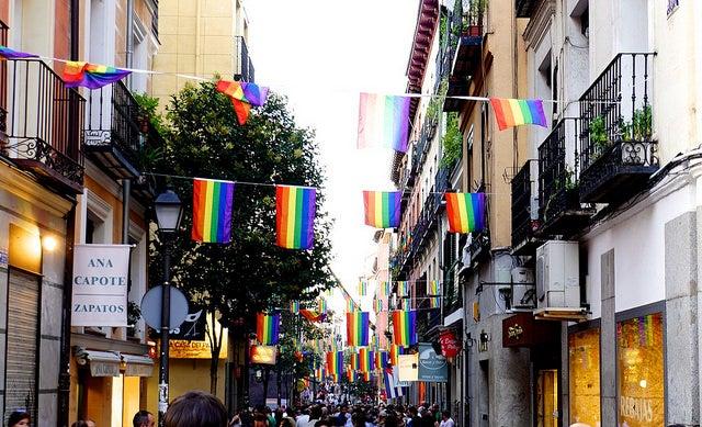 Barrio de Chueca para alojarse en Madrid
