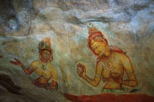 Dibujos en Sigiriya