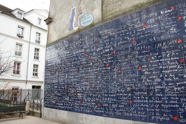 Muro J'e t'aime en Montmartre