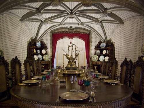 Comedor del Palacio da Pena en Sintra