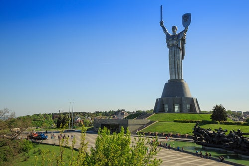 Estatua de la Madre Patria en Kiev.