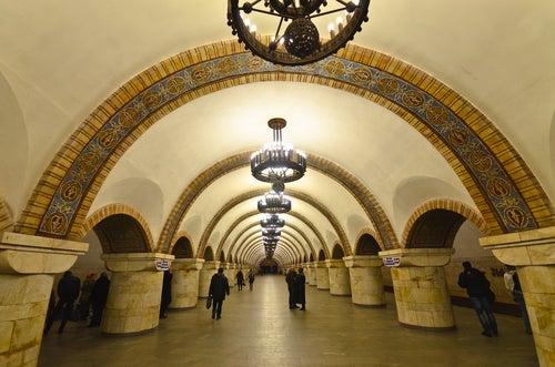 Metro de Kiev.