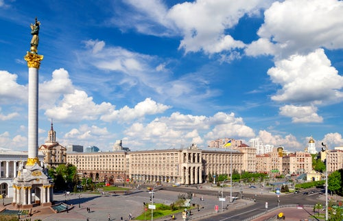 Plaza de la Independencia en Kiev.