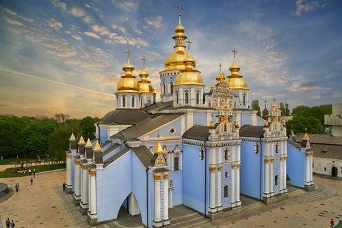 San Miguel de las Cúpulas Doradas en Kiev.