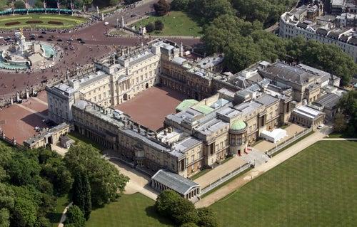 Vista aérea del Palacio de Buckingham