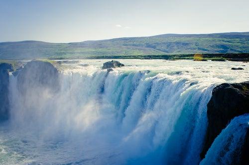 Cascada Detifoss en Islandia