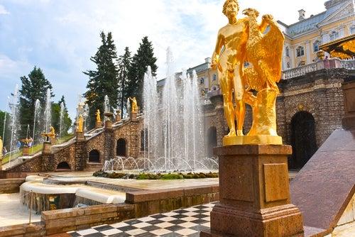 Fuente en Palacio Peterhof