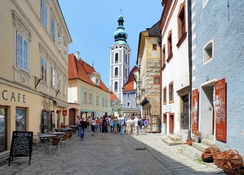 Calle Latran en Cesky Krumlov