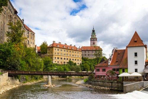 Puente de madera de Cesky Krumlov