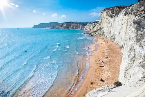 Scalla dei Turchi en Sicilia