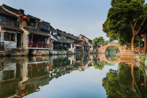 Canales de Xitang en China