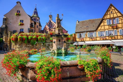 Vista de Egisheim en Alsacia