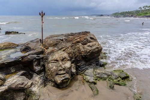 Playa Vagator en Goa