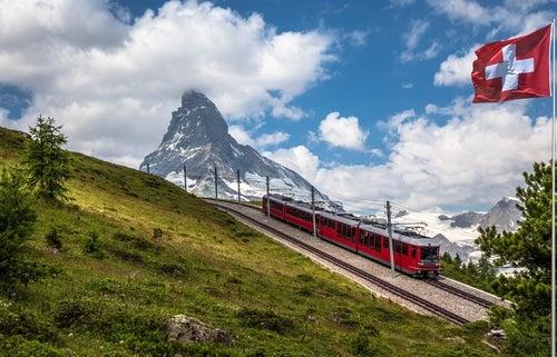 Matterhorn en los Alpes