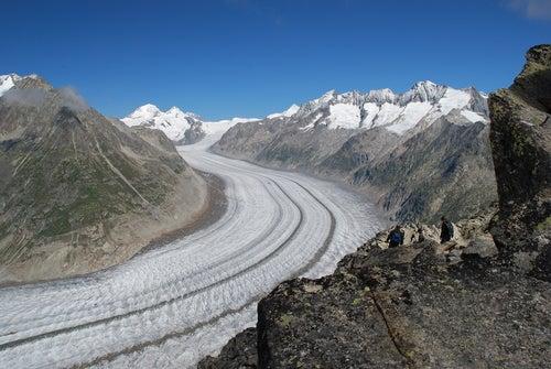 Glaciar Aletsch en los Alpes