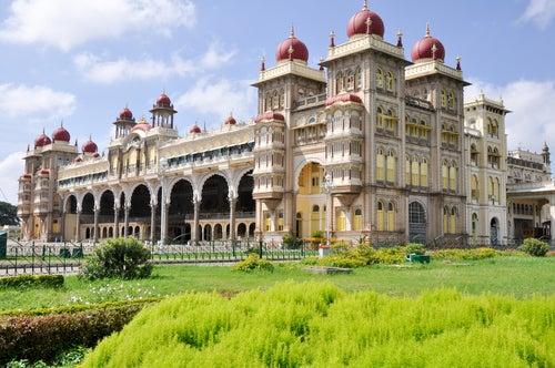 El espectacular palacio de Mysore en la India