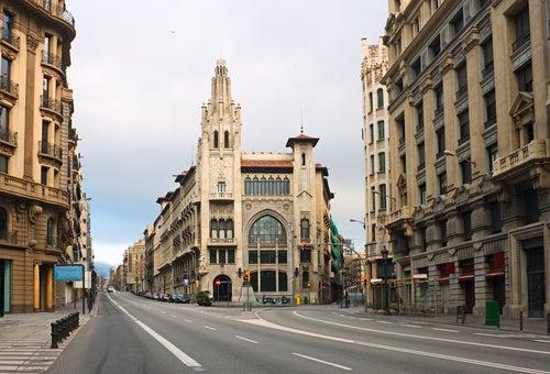 Vía Laietana en Barcelona