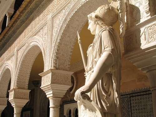 Escultura de Atenea en la Casa de Pilatos