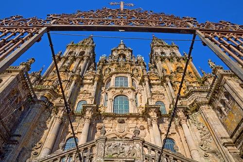 FAchada de la catedral de Santiago