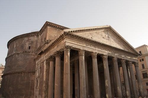 Portico del Patneón de Agripa en Roma