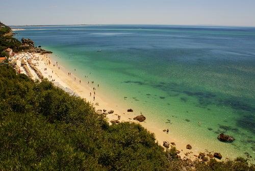 Playas de Portugal, vista de Portinho de Arrábida